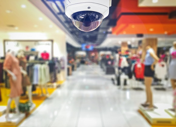 commercial security camera at a retail store - Security Camera Installation Cost