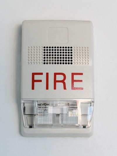 Flashing Smoke Alarm for Hearing Impaired